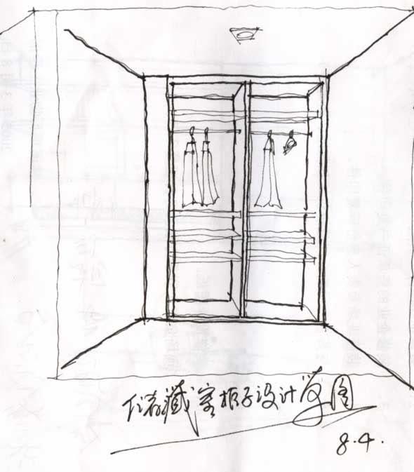 储藏室柜子设计草图图片
