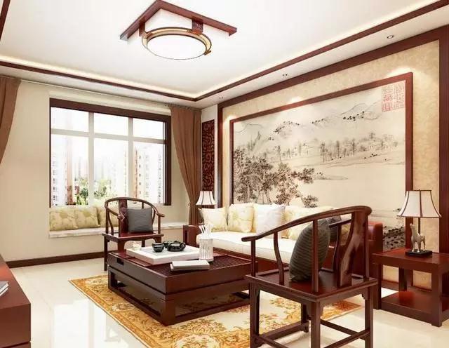 襄阳170平大户型新中式风格装修效果图