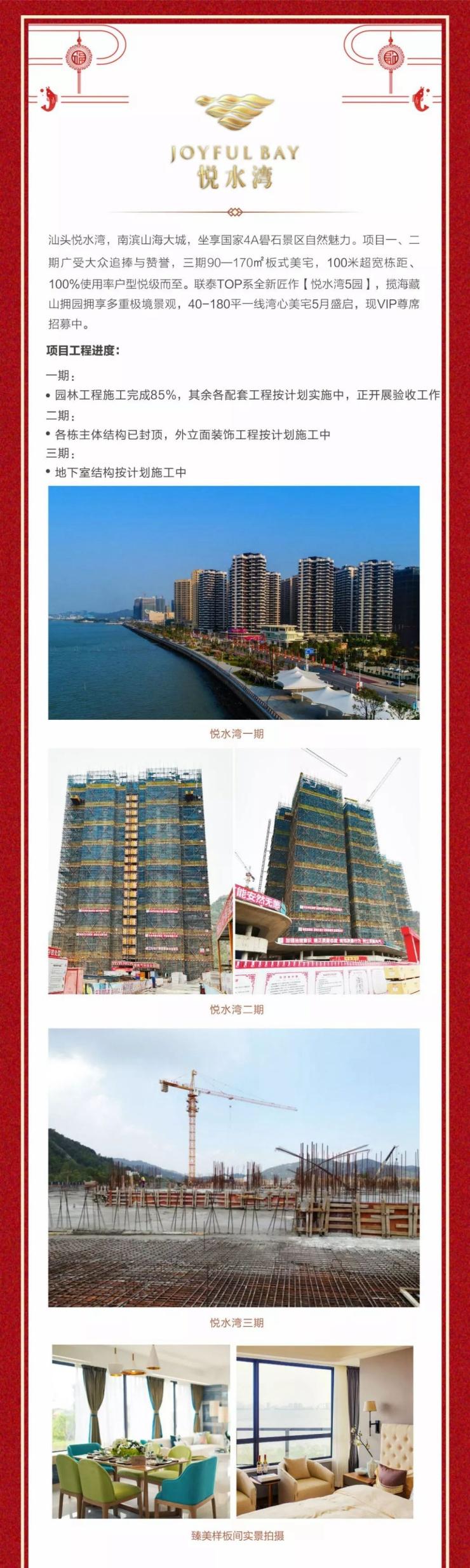 汕头联泰地产6大楼盘最新进展播报:悦水湾一期即将验收,二期外立面