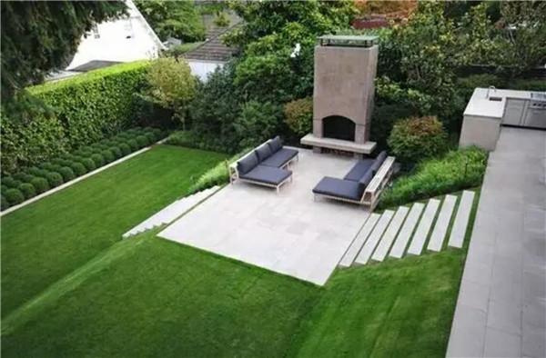 长方形小院绿化效果图