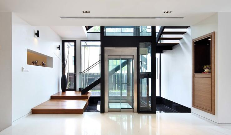 电梯费用生活,让便捷走进设计_装修好物_搜狐别墅土地评估别墅图片