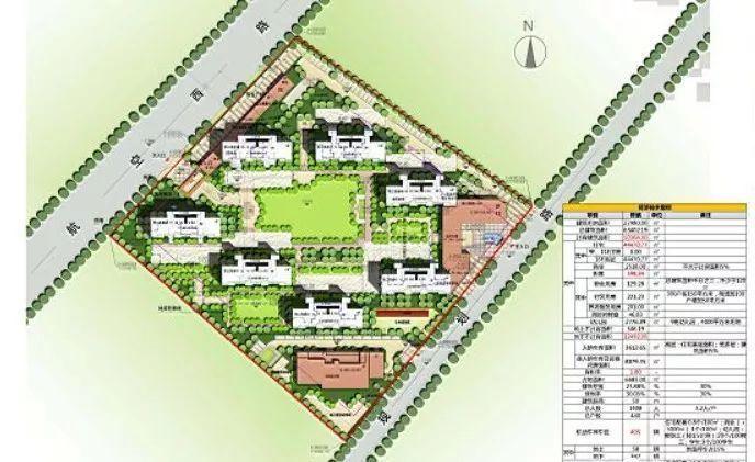手绘东新园小区平面图