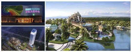 娱乐:海棠湾万达文化中心,海棠湾梦幻不夜城,亚特兰蒂斯水上乐园