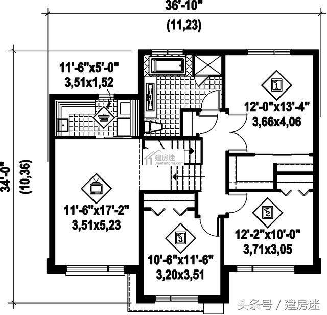 宅基地太小别怕,4套自建房别墅10米x10米两层房屋设计图片