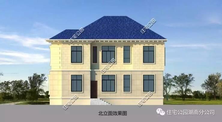 14x15米典雅欧式别墅,带堂屋(全图 预算 视频展示)