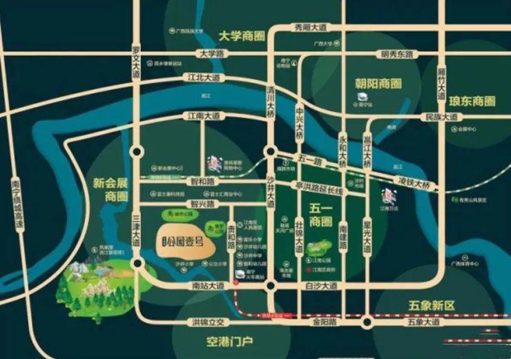 南宁儿童手绘地图