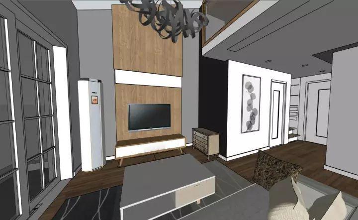 △顶楼老房改造客厅效果图