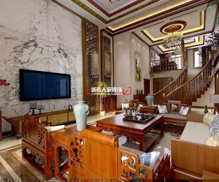 设计|远景玉城别墅中式风格案例在线赏析