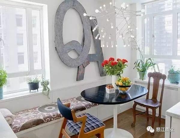 小户型卡座餐厅装修实景图,在房间转角遇见浪漫!