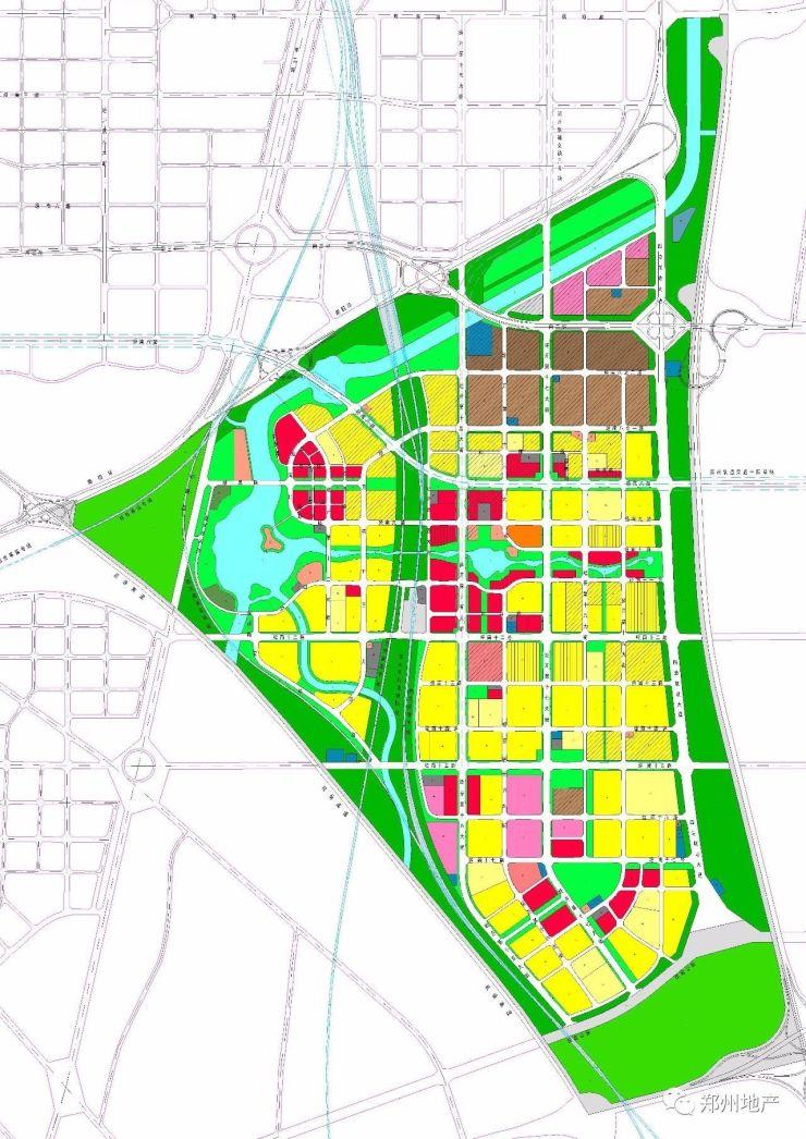 滨河片区规划图