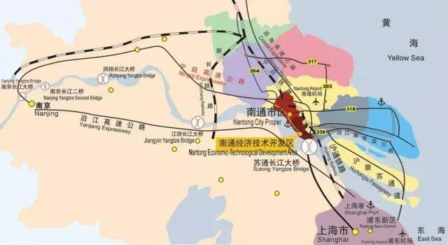 沪通铁路:上海---南通
