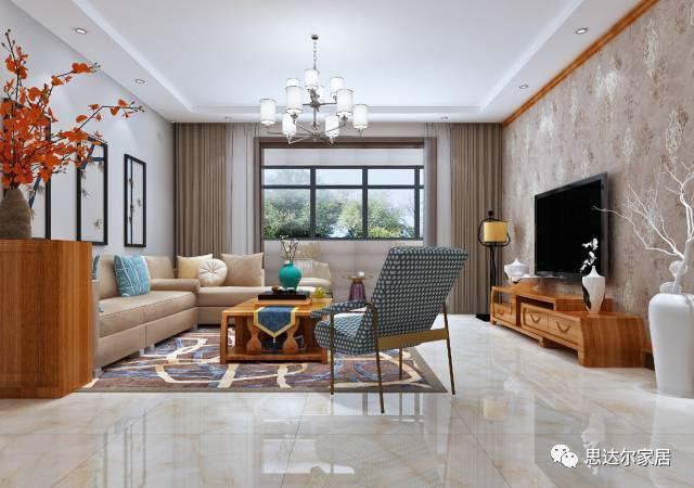 电视背景墙边框贴合整体家具氛围