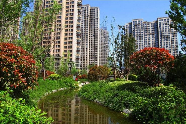 新华城醉美园林 实景实拍