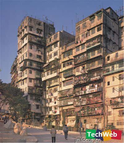 图片:人口密度世界第一的香港猪笼寨
