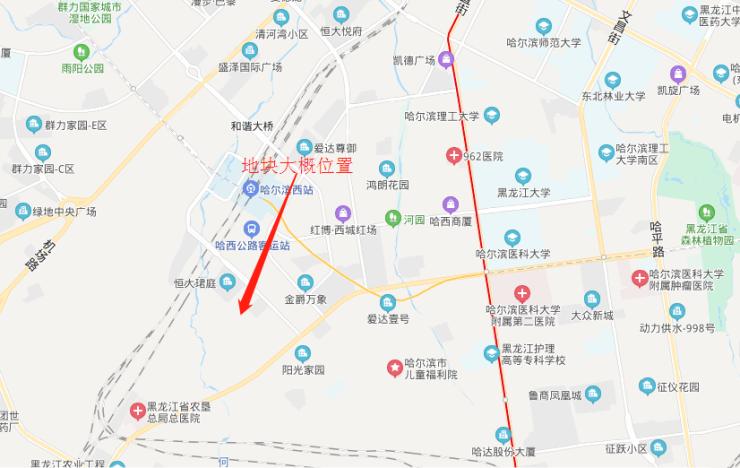 哈西群力核心位置再出新地块!起拍楼面价高达7493.5元/㎡哈尔滨插图(1)