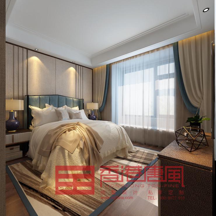 济南海珀天沅现代风格装修|济南香港唐风别墅大宅装修