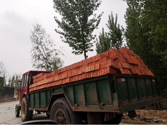 河北内丘一黏土砖窑违规生产