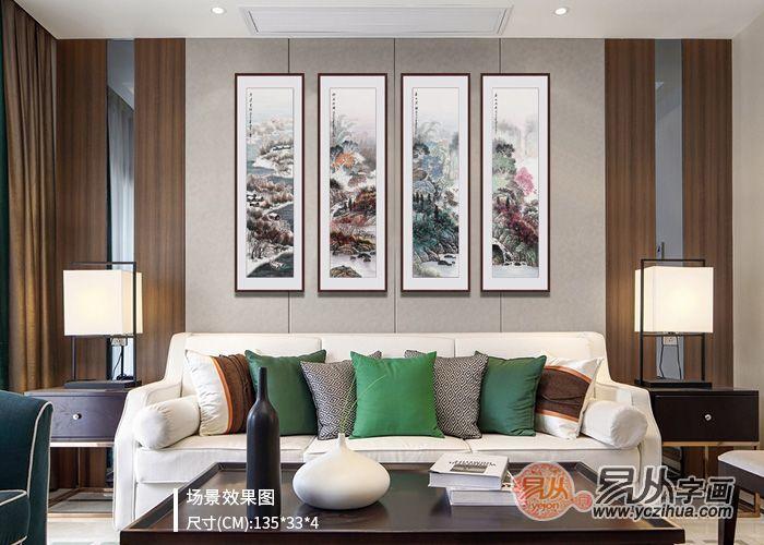 有种客厅叫做别人家的客厅,优雅至极的客厅挂画欣赏
