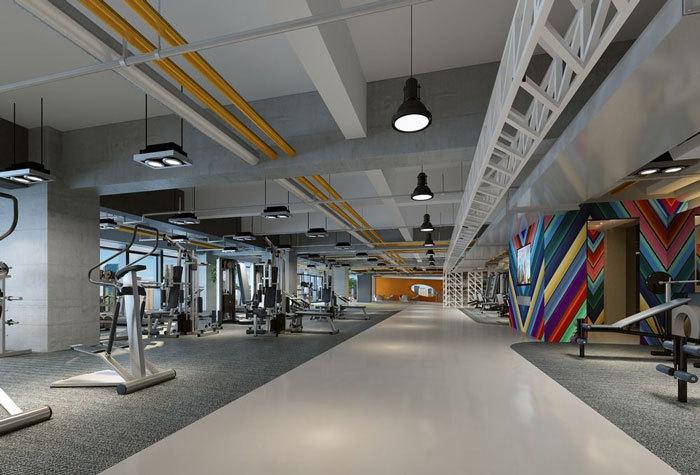 合肥企业健身房装修设计案例精选