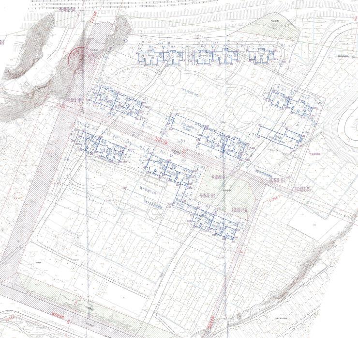 彭家坪164亩经适房用地万家花园再建新楼 设计4栋住宅