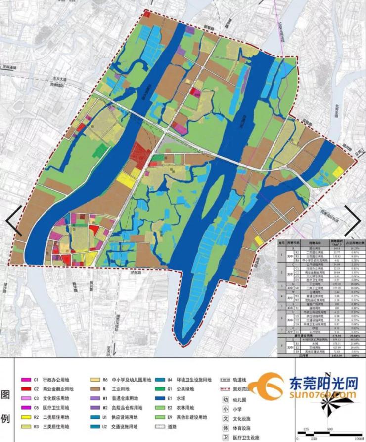 东莞水乡新城规划出炉!拟建空中连廊+规划14所中小学!