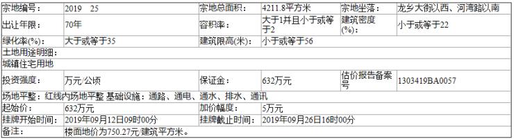 邯郸魏县自然资规告字[2019]16号土地挂牌出让