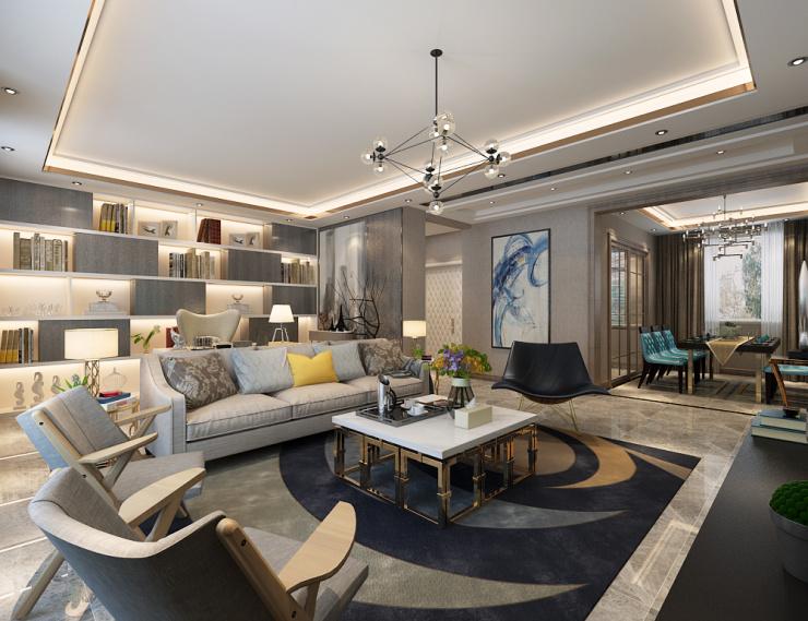 华润置地·中央公园|D2户型三室两厅两卫使用139㎡现代轻奢