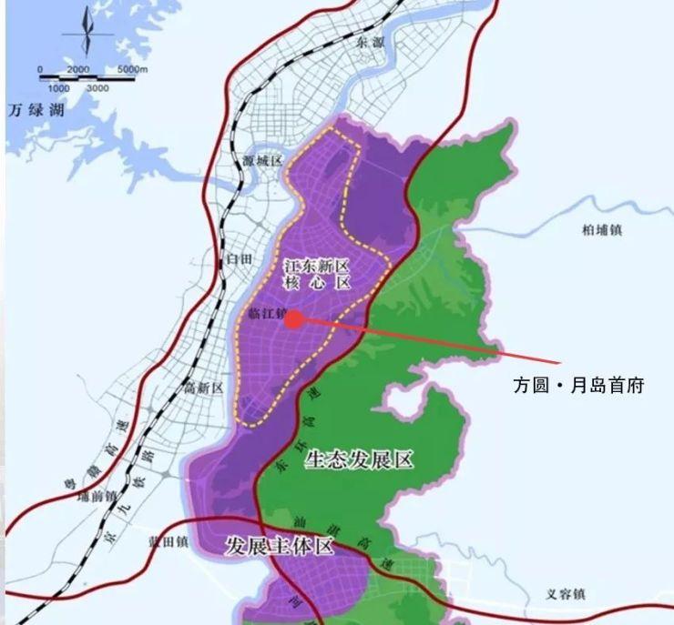 方圓月島首府 智慧產業園+高鐵新城,河源這個區域要爆發了?