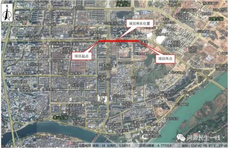 提醒!河源市区建设大道下穿中山大道、文昌路通道工程即将动工