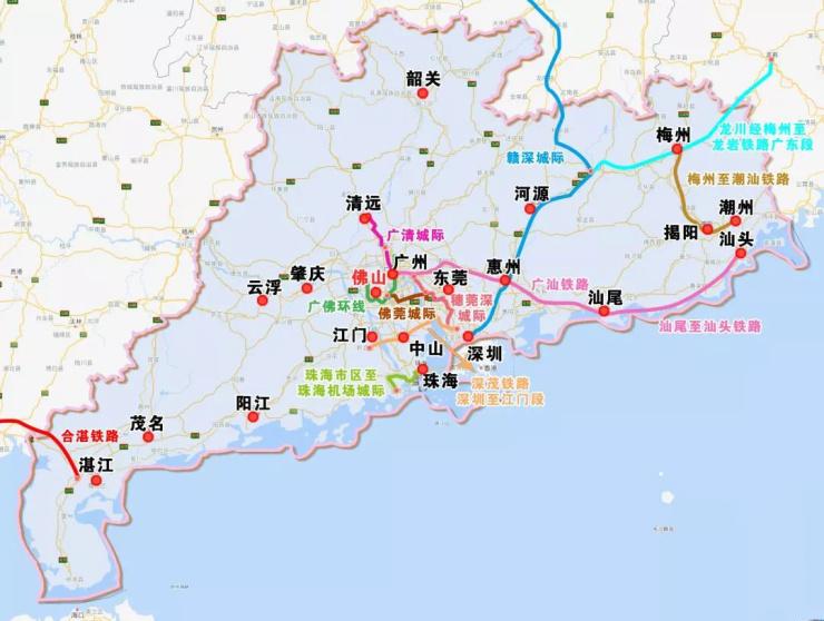 未来6年广东轨道交通建设消息,河源也在其中!