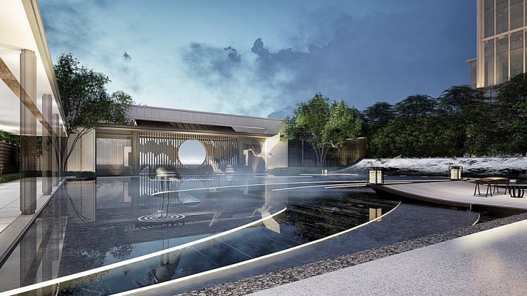 葛洲坝·紫郡蘭园 | 归家每一步皆风景,寻迹现代中式造园哲学