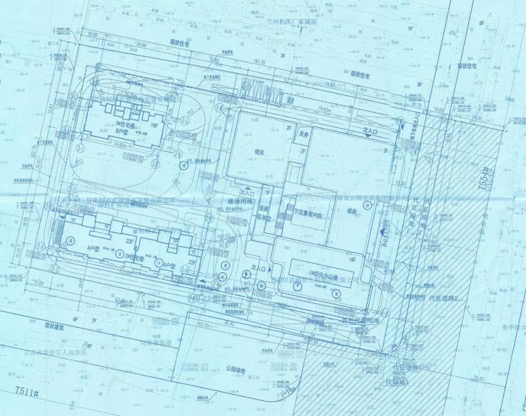 商住小区项目建筑工程设计方案总平面图公示