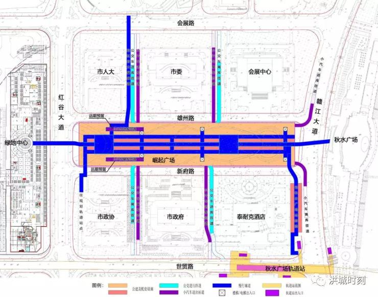 赣江西岸四大片区城市综合交通规划出炉,八纵四横大交通