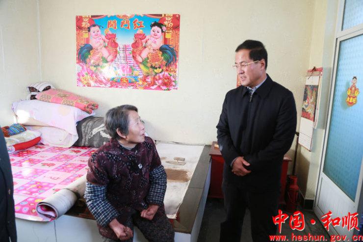 和顺县委副书记、政府县长马海军就煤改气进行调研