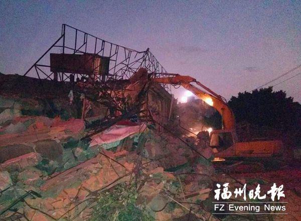 凤坂河边征收地块违建拆除 面积约2.4万平方米