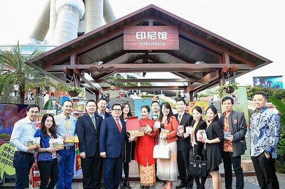 进博会前夕,天猫在东方明珠下开启了印尼等国家展馆