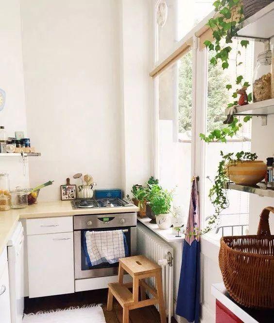 温馨的文艺厨房,原来长这个样子