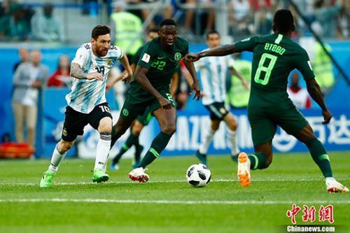 梅西罗霍建功!阿根廷2:1战胜尼日利亚惊险晋级