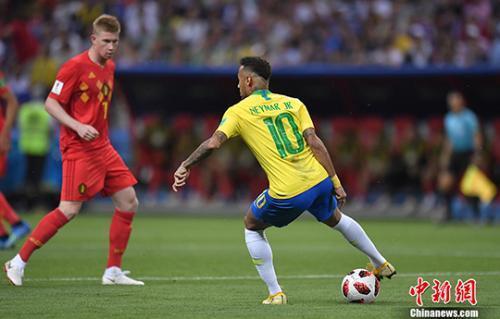 """南美独苗巴西1:2不敌比利时 世界杯变""""欧洲杯"""""""