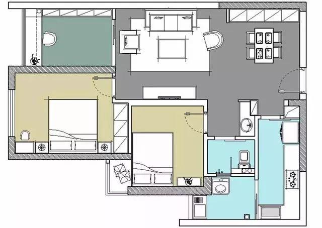 芜湖赭麓公馆70平的现代美式三房,颜值高