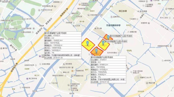 (最新成交)零溢价!融创、荣安分食宁波鄞州东南智慧产业园3号、4号地块