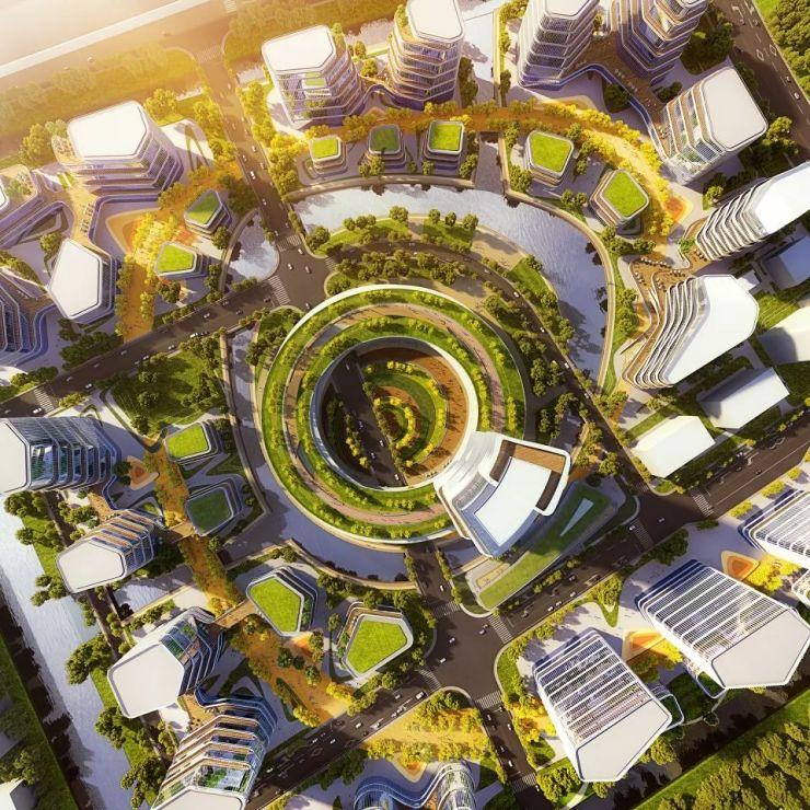 立木赢得上海智能医疗岛城市设计 / 立木设计研究室