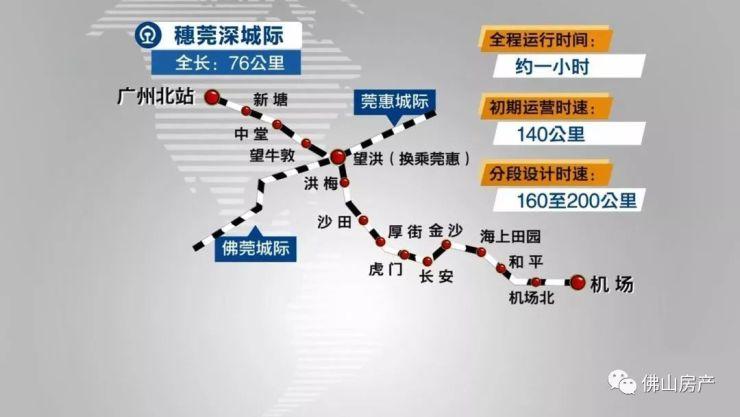广州10分钟到东莞!广佛线可换乘!穗莞深城际线2018年底建成