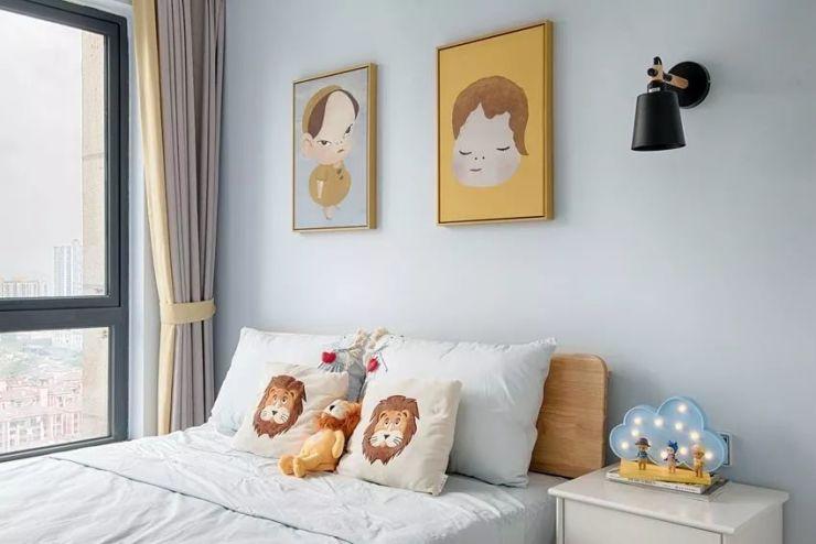 芜湖凤凰城新房半包6万,85㎡北欧三居室案例赏析